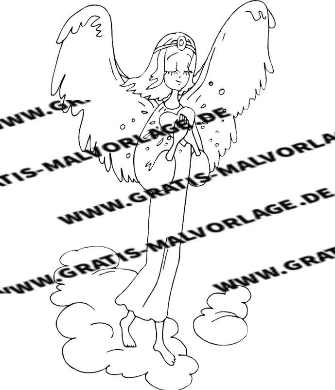engel - kostenlos gratis malvorlagen herunterladen