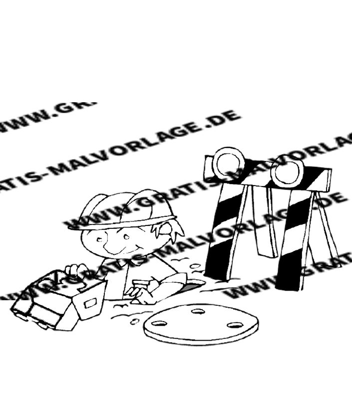 baustelle - kostenlos gratis malvorlagen herunterladen