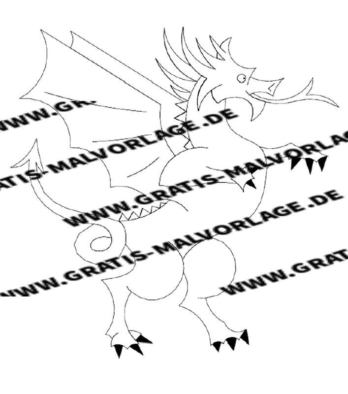 drachen  kostenlos gratis malvorlagen herunterladen